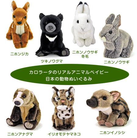 リアルアニマルベイビー 日本の動物ぬいぐるみ